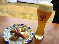 ドイツビールとソーセージ