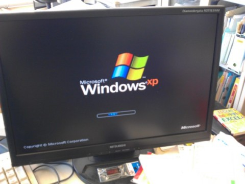 あっけなく起動したWindowsXP
