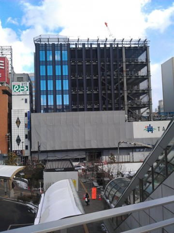 仙台駅東口建設中のヨドバシビル