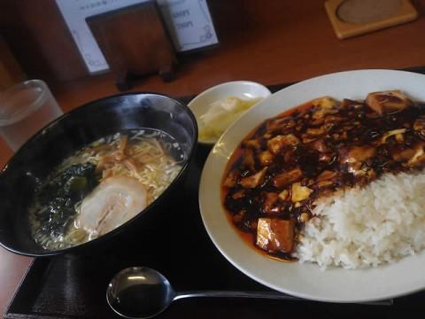 四川麻婆飯+あっさり塩ラーメン」