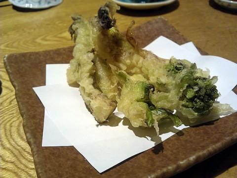 うどとふきのとうの天ぷら