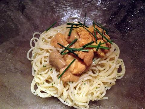 塩水ウニ冷製スパゲティ
