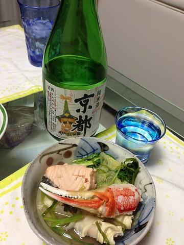 松本酒造京都とカニ鍋