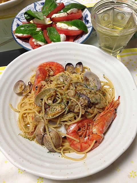海老とアサリのボンゴレ風スープスパゲティ