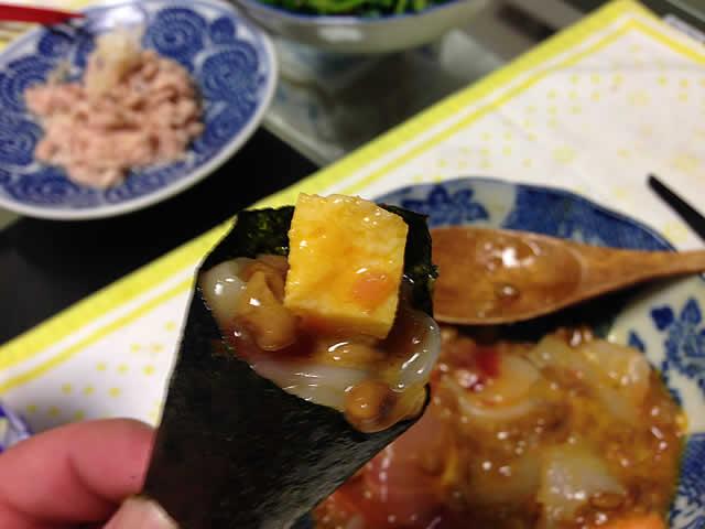 爆弾納豆海苔巻き