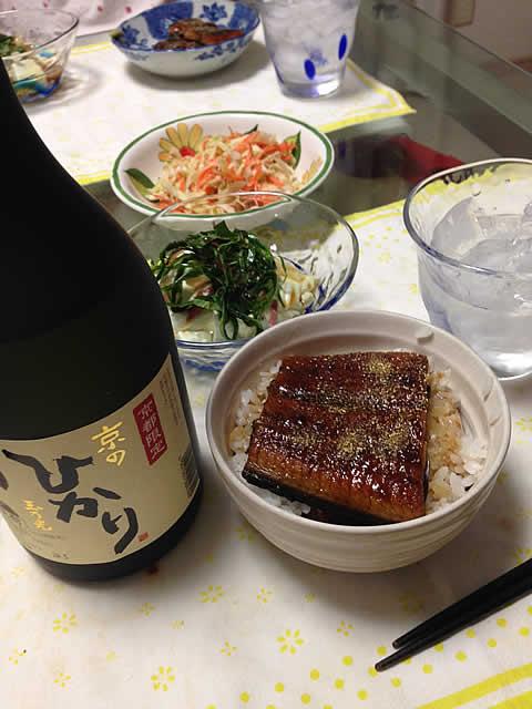 今年初うなぎ・・・といっても冷凍物だけど日本製