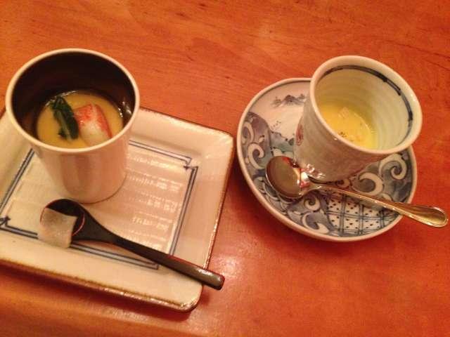 うめ小路茶碗蒸しとスープ
