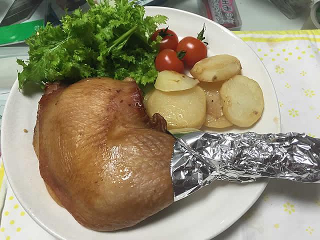 クリスマスイブのディナーはローストチキンに初挑戦