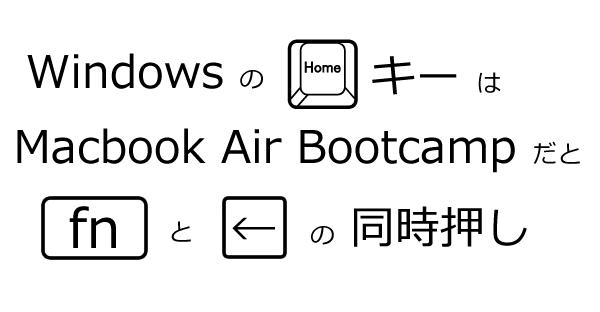 Macbook Air Bootcamp上のWindows7のキーボード割り当てに戸惑う