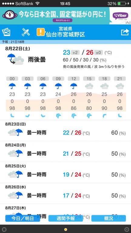 雨がつづくみたいです