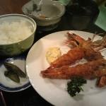 喜庭の海老フライ定食 500円