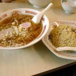 八千代軒 蒲町店のラーメン&炒飯