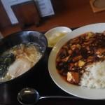 天府仙臺のランチ「四川麻婆飯+あっさり塩ラーメン」