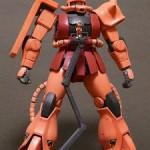 赤というよりはピンク:MGシャア専用ザクVer2