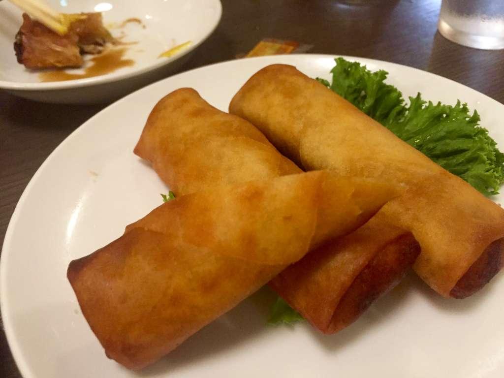 中華飯店靉龍の春巻