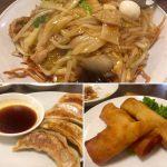 中華飯店靉龍の「餃子」「春巻」「かた焼きそば」