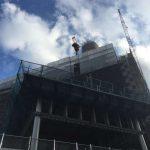 ホテル仙台プラザ跡にNHK仙台放送局が建設中