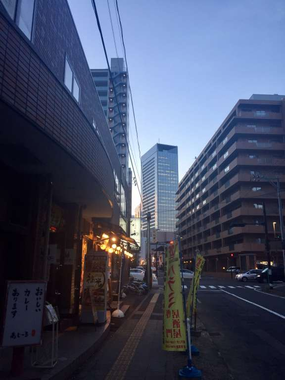 仙台駅東口の風景