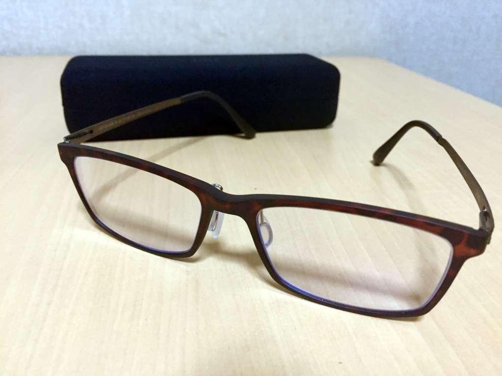 JINSの遠近両用メガネ