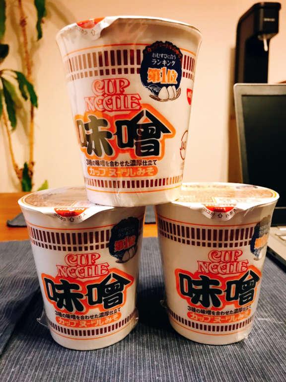 カップヌードル味噌味