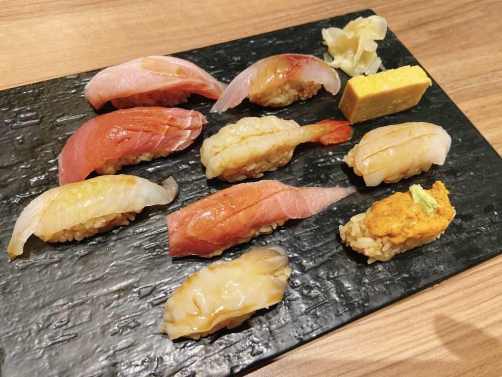 ワイン・寿司・天ぷら 魚が肴寿司