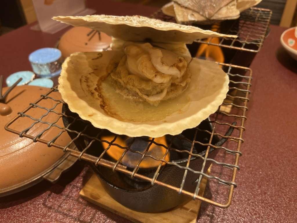 帆立の殻焼き