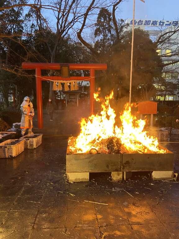 卸町神社のどんと祭