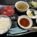 焼肉楽亭の牛ロース定食